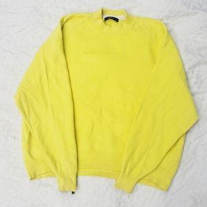 Zara Neon Yellow Turtle Neck Sweater